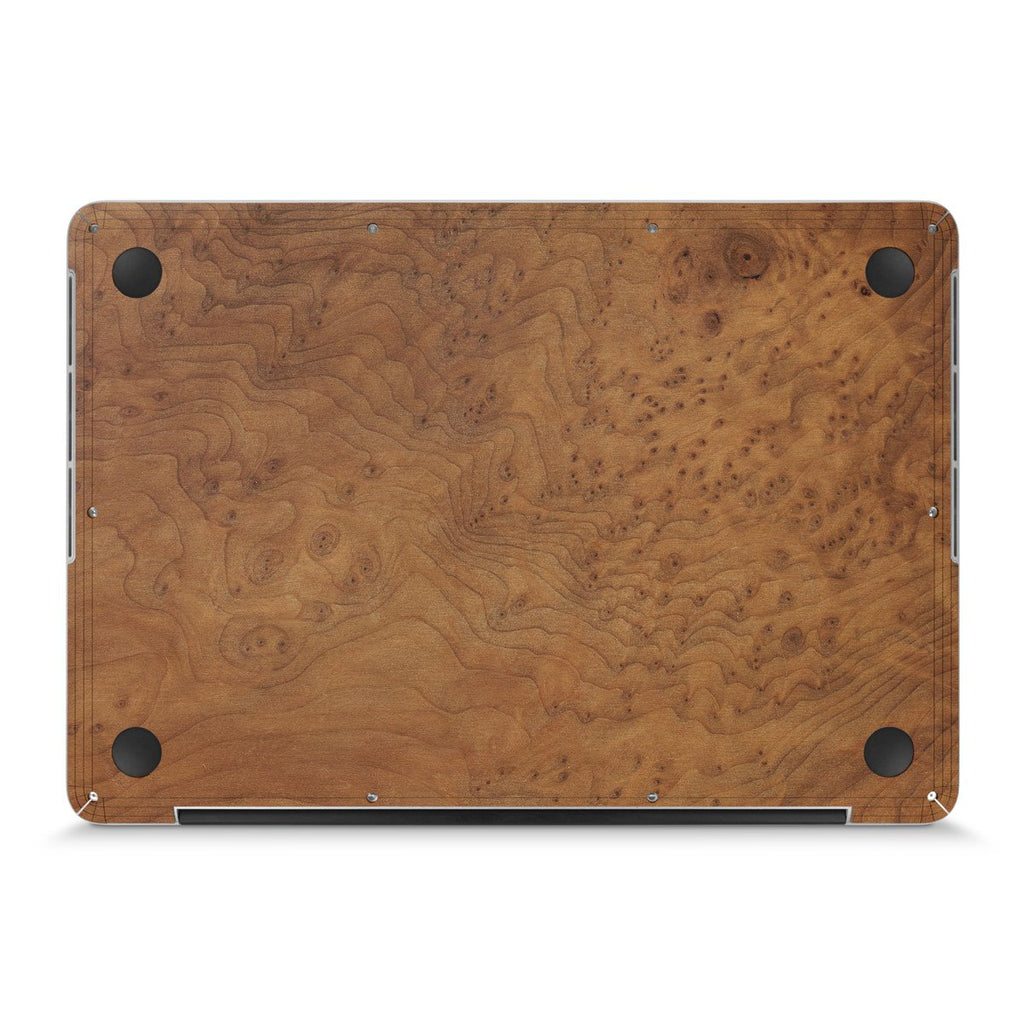 "MacBook Pro 17"" — #WoodBack Bottom Skin"