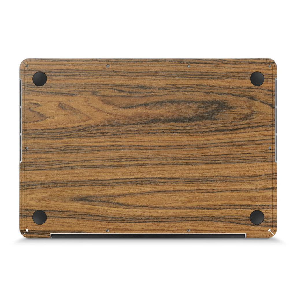 "MacBook Pro 13"" — #WoodBack Bottom Skin"