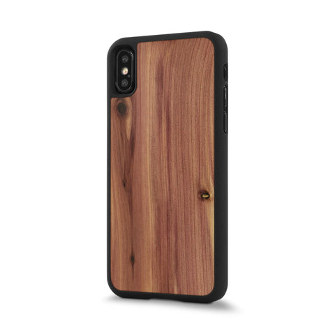 iPhone X —  #WoodBack Snap Case
