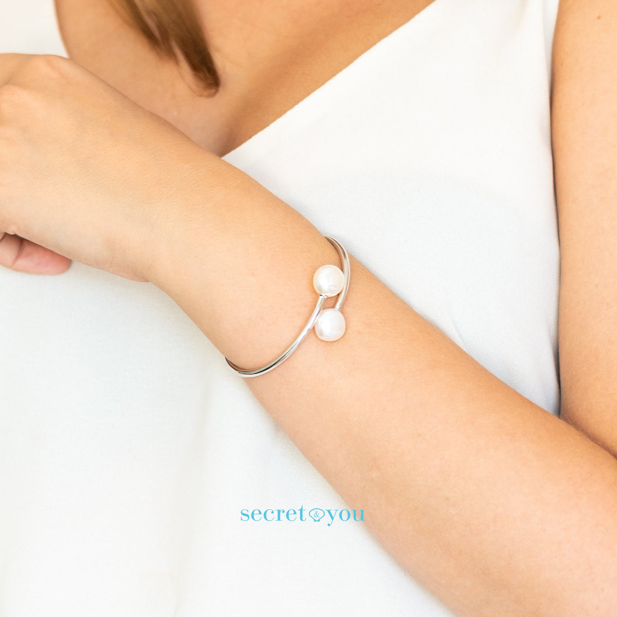 Pulsera de Plata de Ley con Perlas de Agua Dulce Barrocas 11-12 mm Secret & You