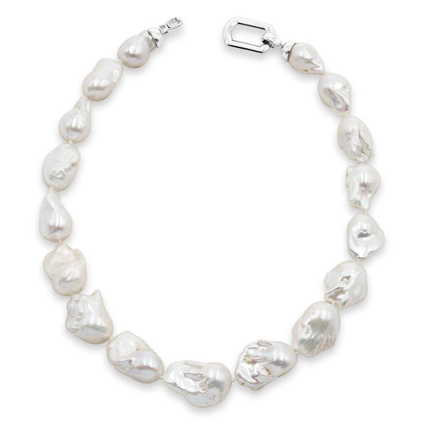 Collar de Perlas de Agua Dulce Grandes y Barrocas 13-15mm, 45cm. Calidad AAA Secret & You