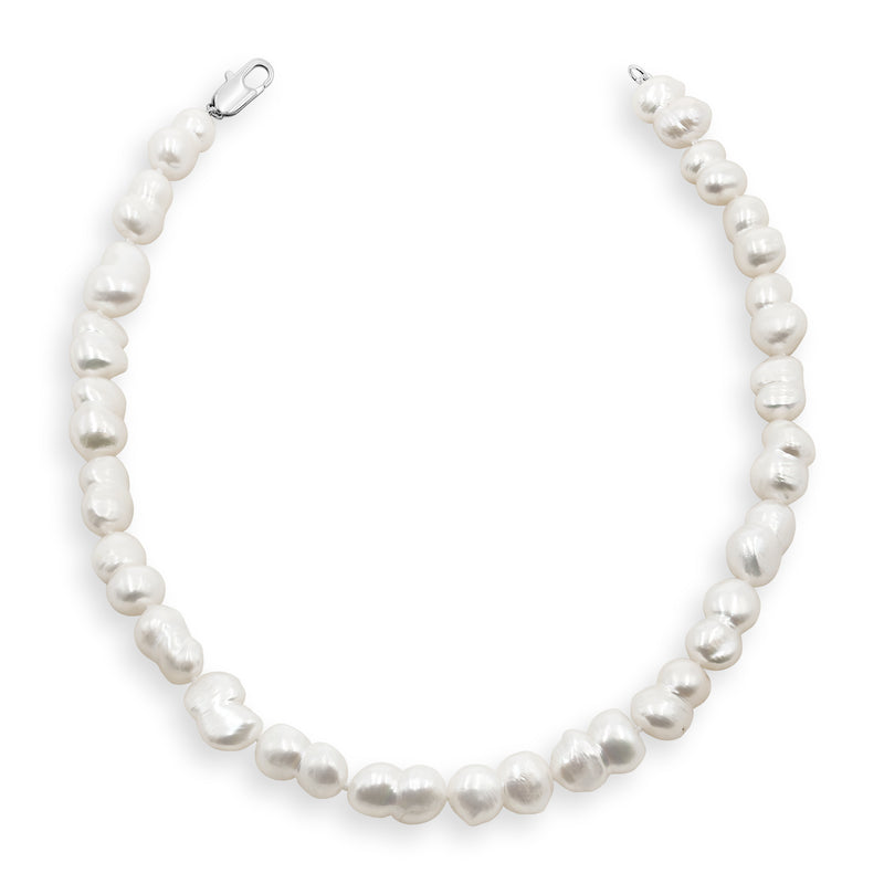 Collar de Perlas Grandes de Agua Dulce Barrocas y Gemelas 11-12 mm Secret & You