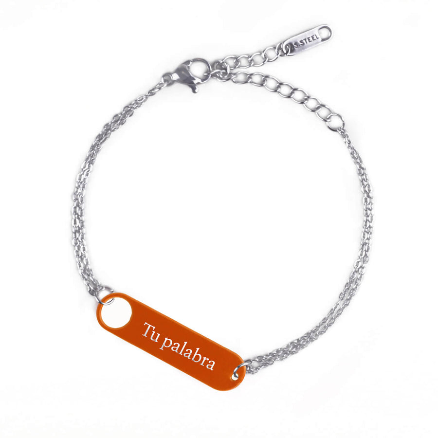 Pulseira Matte Bloom  I Prata Corrente