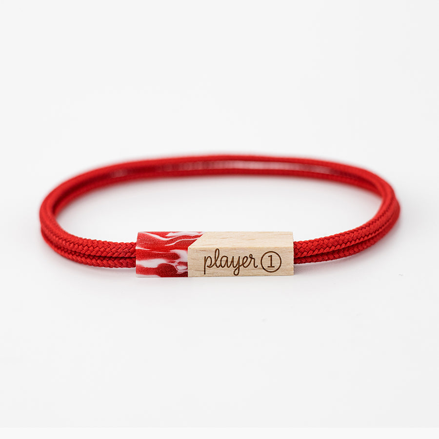 pulseras grabadas player one cherry