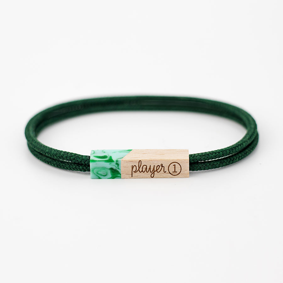 pulseras grabadas player one forest