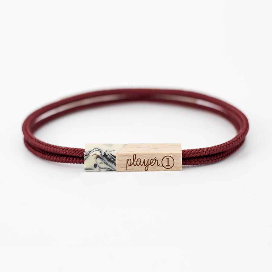 pulseras grabadas player one garnet