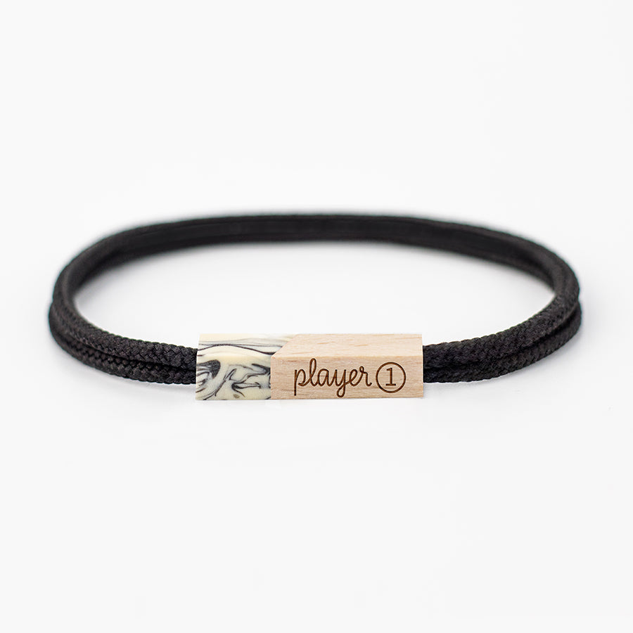 pulseras grabadas player one ivory