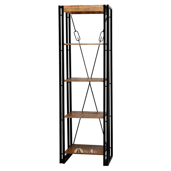 Industrial Double Frame Narrow Bookshelf