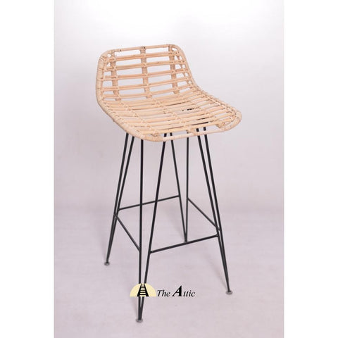 Anya Rattan Bar Counter Stool - theattic-dubai.com