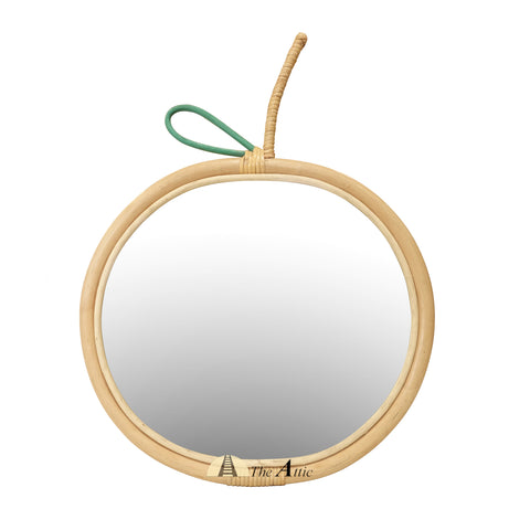 Apple Rattan Wall Mirror, Kids Collection, Bohemian furniture  - The Attic Dubai