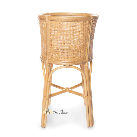Arjuna Natural Rattan Tall Planter - The Attic Dubai