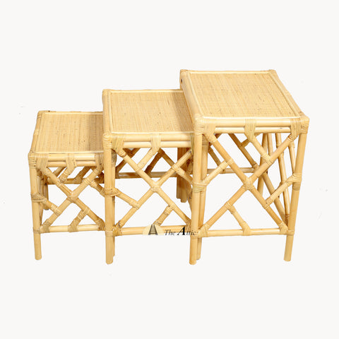 Arman Rattan Nesting Side Tables (set of 3)
