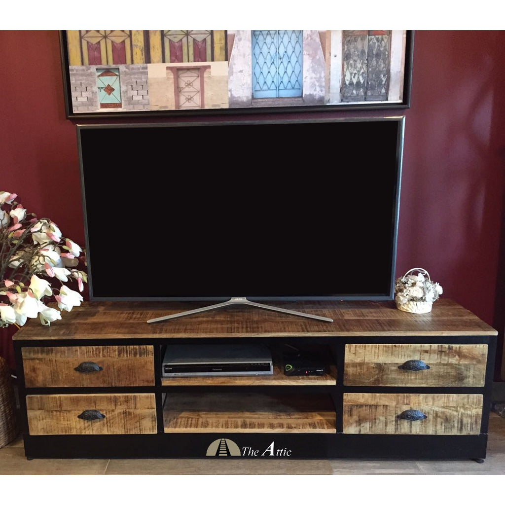 Attkan 4-Drawer Industrial TV Unit - The Attic Dubai