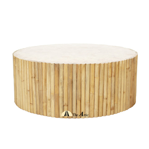 Avon Natural Rattan Round Coffee Table