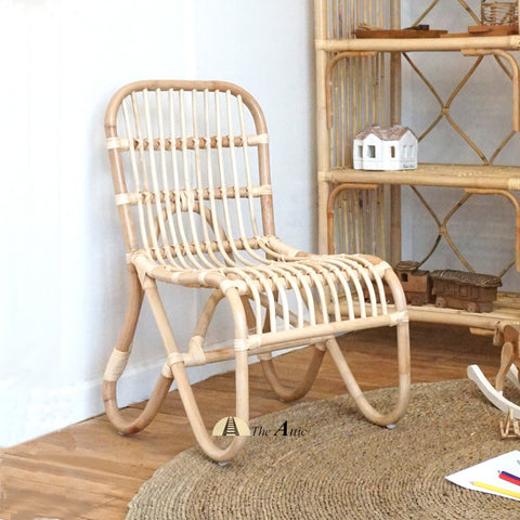 Bandung natural brown rattan kids chair, Bohemian Nursery Furniture - The Attic Dubai
