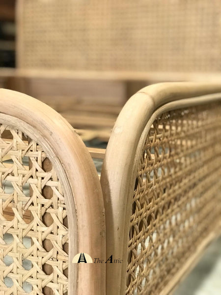 Rattan Queen Size Bed, Rattan Wicker Furniture - The Attic Dubai