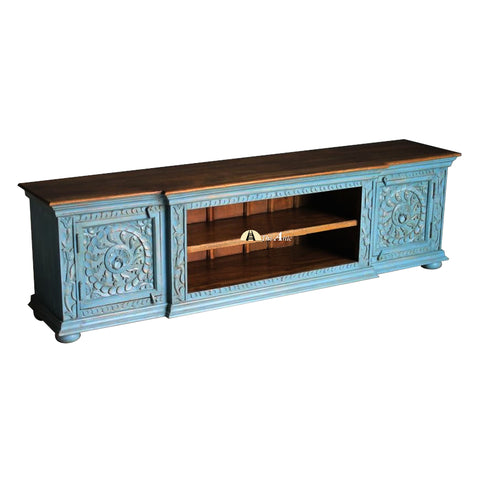 Carved 2-Door TV Cabinet, 180cm
