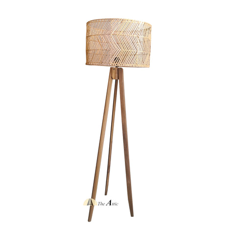 Boston Tripod Floor Lamp, Rattan Furniture - The Attic Dubai