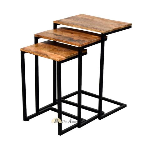 C-shape Industrial Nesting Sofa Side Tables - The Attic Dubai