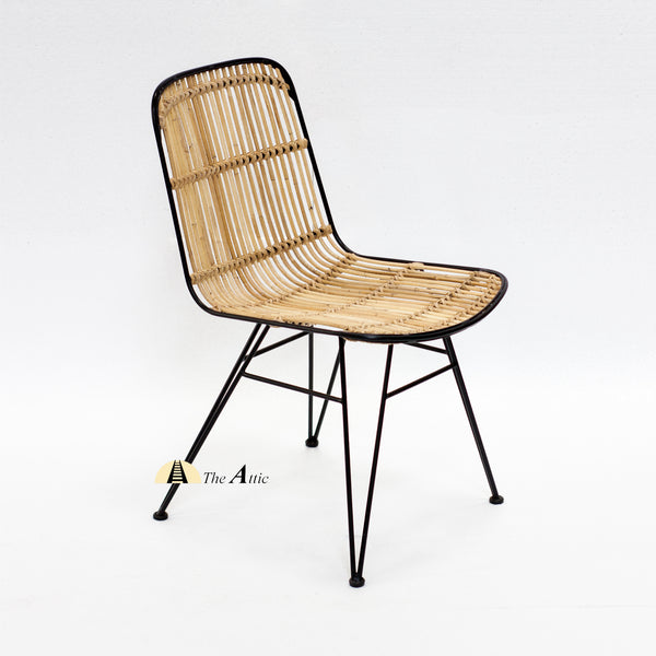 Cairo Rattan Dining Chair with Black Lining - theattic-dubai.com