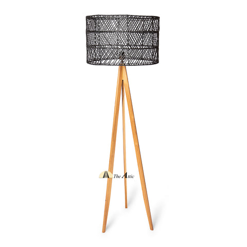 Cardiff Rattan Tripod Floor Lamp, Rattan Furniture - The Attic Dubai