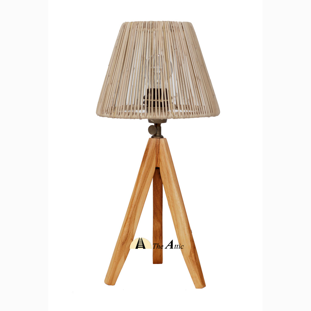 Cardiff Rattan Tripod Table Lamp