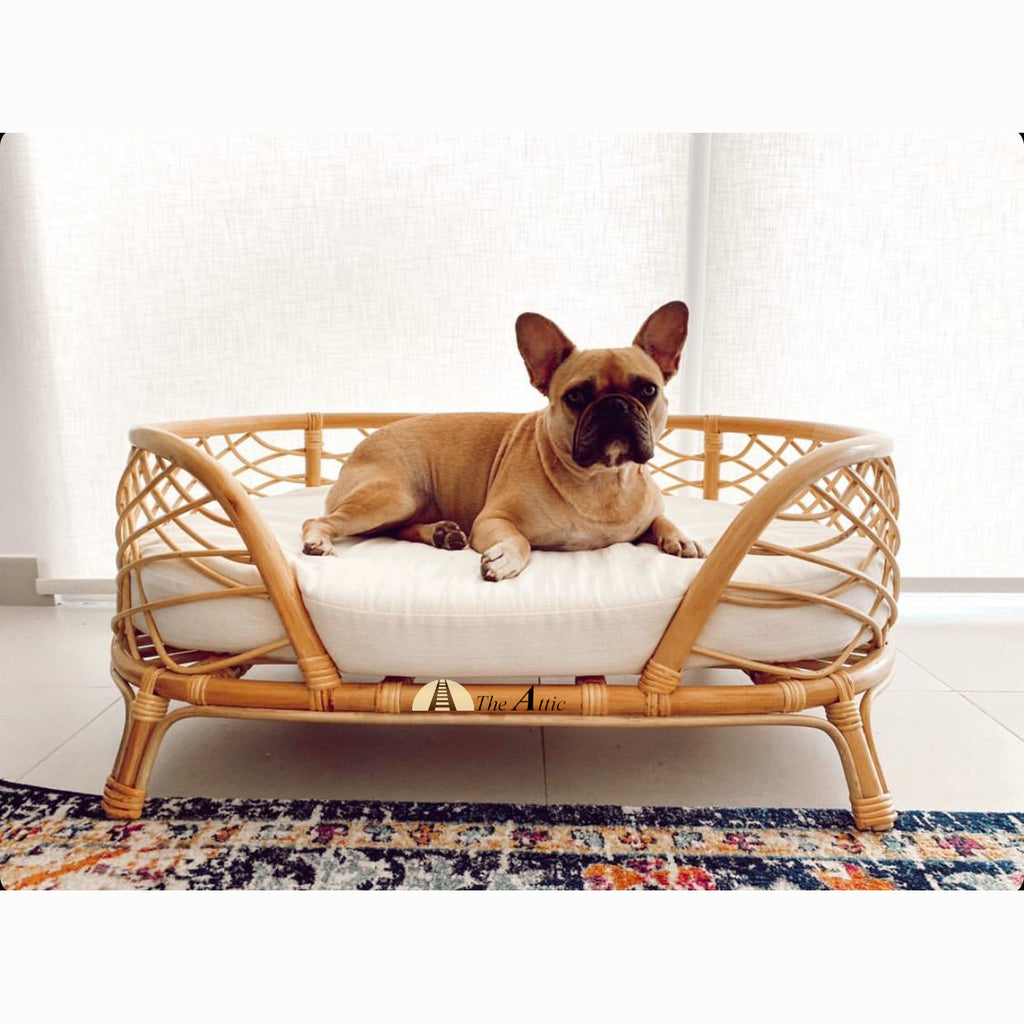 Coco Oval Rattan Dog Bed, Stylish Pet Bed - TheAttic-Dubai.com