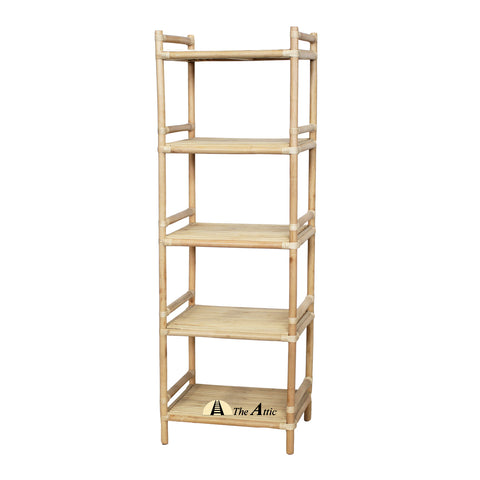 Costa 5-tier Rattan Shelf - The Attic Dubai