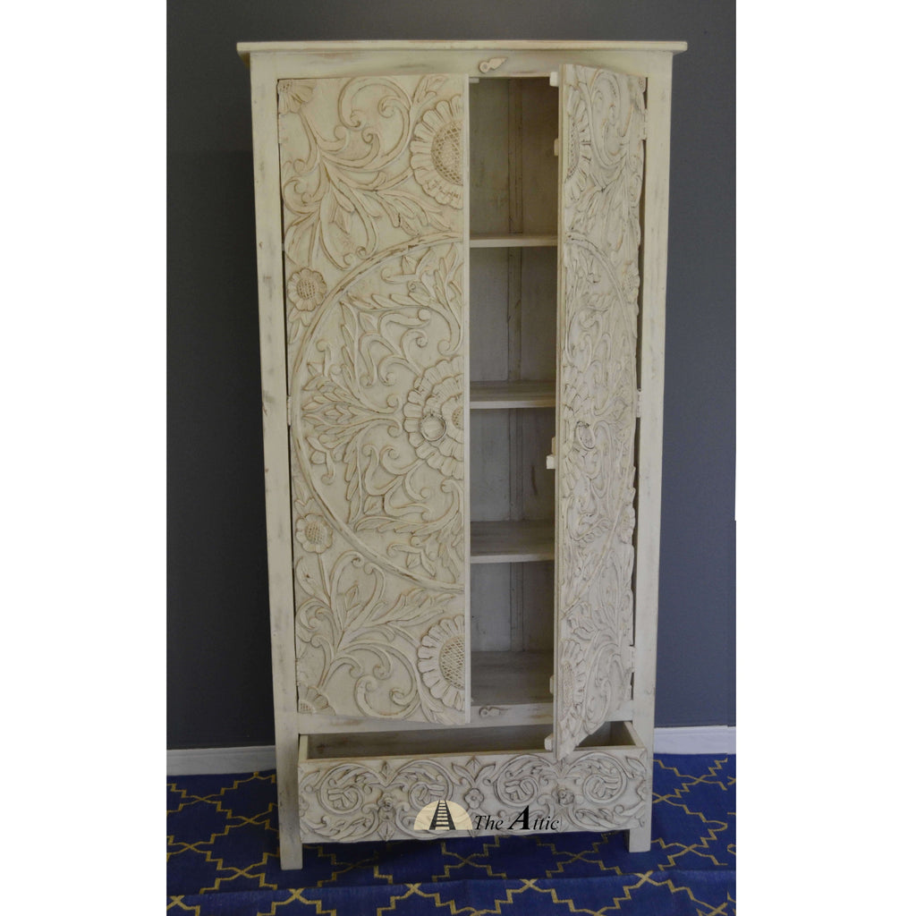 Carved Tall Cabinet