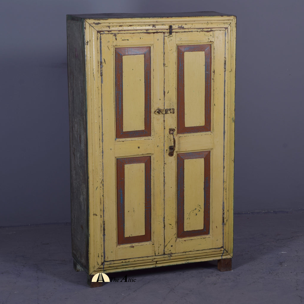Vintage Cream Cabinet - TheAttic-Dubai.com