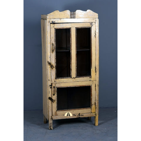 Cream Single Door Vintage Cabinet - The Attic Dubai