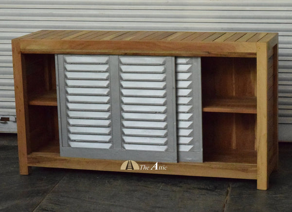 Indian Railway Shutter Sliding Door Cabinet / Shoe Rack
