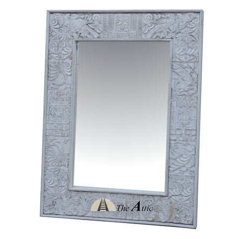 White Peacock Mirror