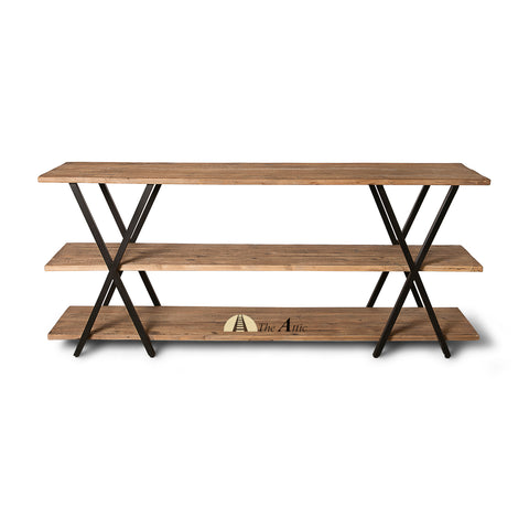 Dallas Industrial X-leg Console / Low Bookshelf, theattic-dubai.com