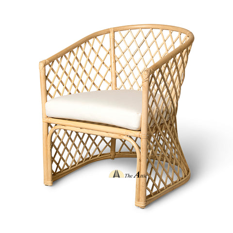 Diamond Rattan Lounge Chair, Arm Chair, Rattan Wicker Furniture - The Attic Dubai