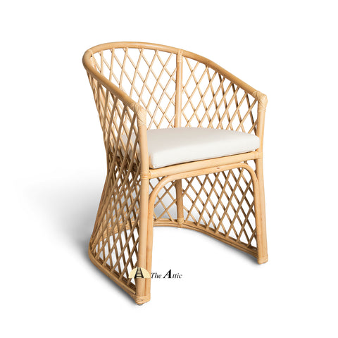 Diamond Rattan Dining Chair