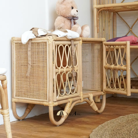 Etosha Rattan Toy Cabinet, Kids Collection , Bohemian Nursery Furniture - The Attic Dubai