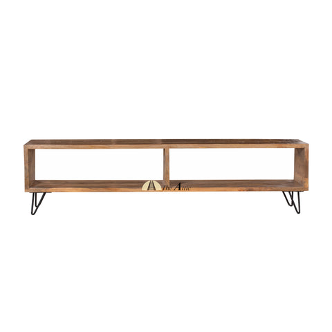 Retro Box TV Stand with Hairpin Legs, 180cm, theatticdubai.com