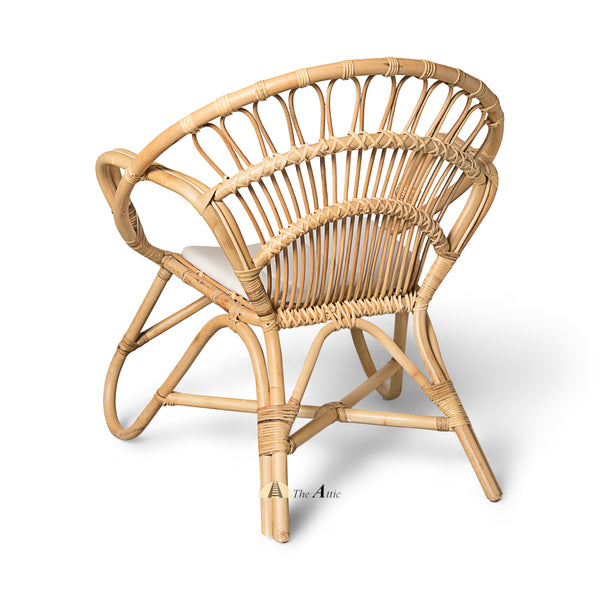 Hawaiian Rattan Lounge Chair Armchair, Rattan Furniture - The Attic Dubai
