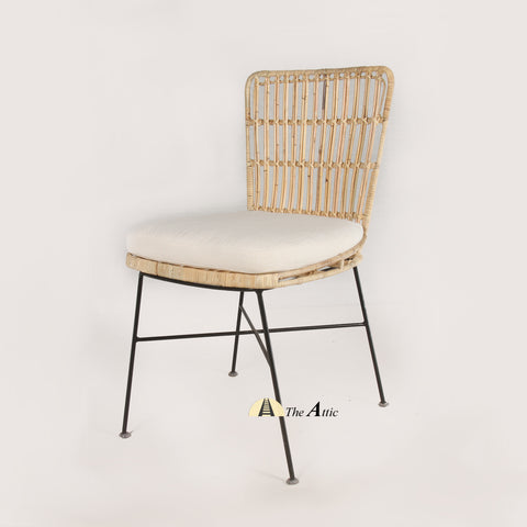 Heidi Rattan Dining Chair, Rattan Wicker Furniture - TheAttic-Dubai.com