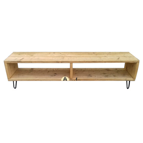 Hairpin Leg Reclaimed Pine TV Unit - theattic-dubai.com