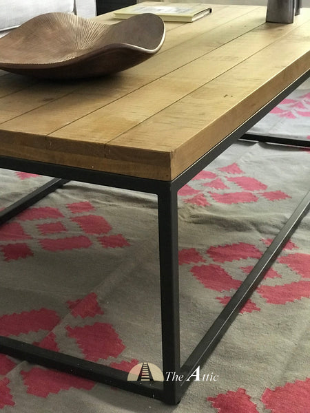 Gaia Reclaimed Pine Industrial Coffee Table