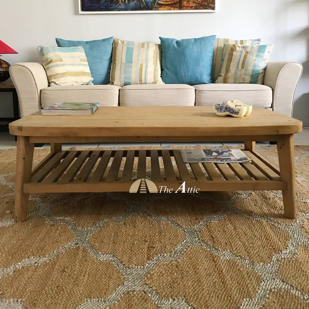 Bente Retro Reclaimed Pine Coffee Table The Attic Dubai