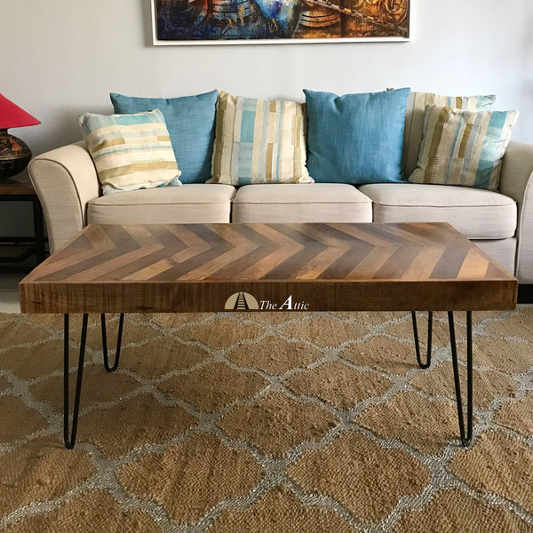 Chevron Hairpin Coffee Table