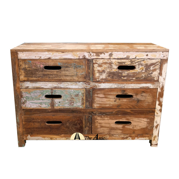 Reclaimed Wood 6-Drawer Dresser