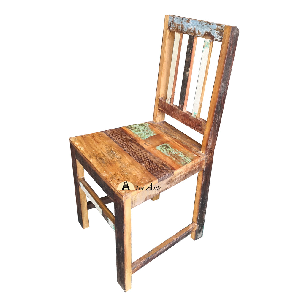 Reclaimed Wood Indoor/Outdoor Rustic Dining Chair
