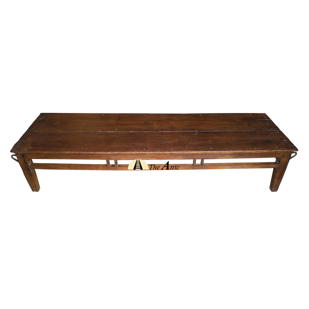Vintage Low Bench, Jhoola Swing Jhula Indian Solid Wood Teak