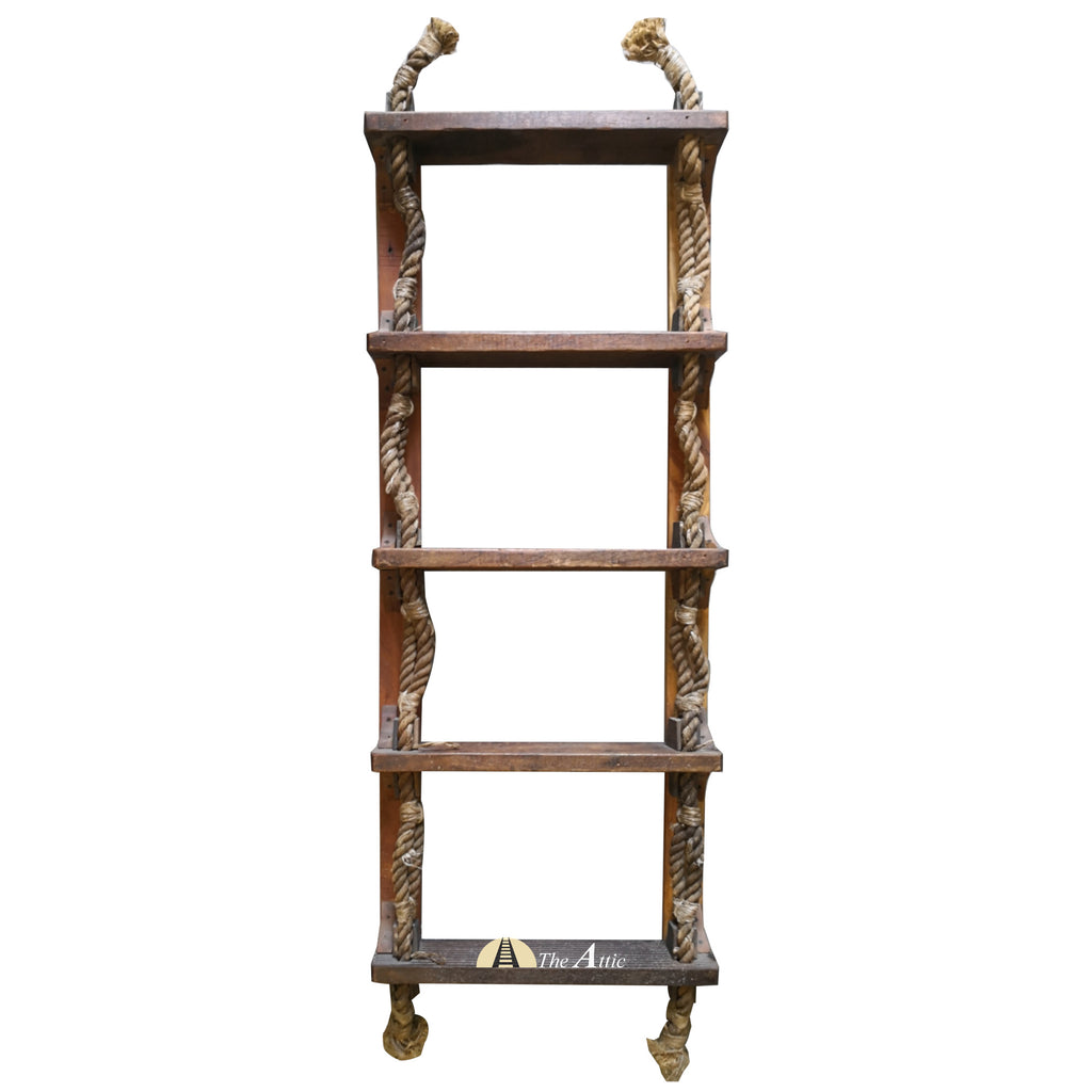 5 Step Original Nautical Rope Ladder Shelf - The Attic Dubai