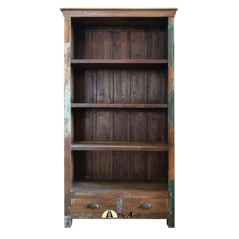 Reclaimed Wood Bookshelf - The Attic Dubai - theattic-dubai.com