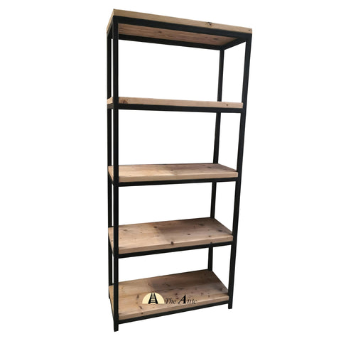 Industrial 5-Tier Bookshelf - The Attic Dubai